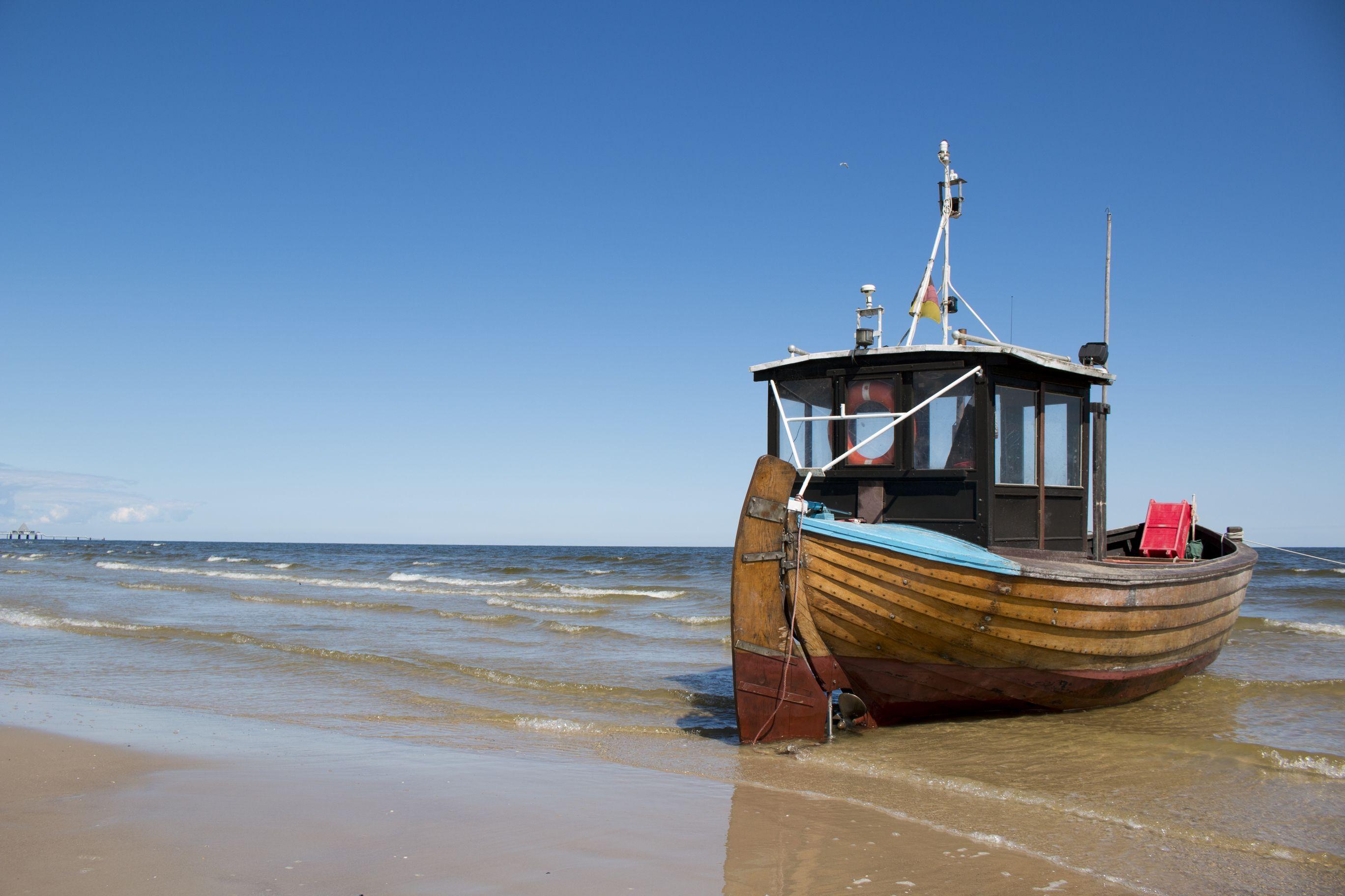 Eins der mittlerweile wenigen Fischerboote auf Usedom in