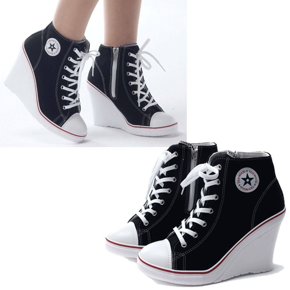 free shipping 43852 f1f78 tenis-sneakers-tacon-wedge-tipo-converse-envio-gratis-3514-MLM4380639120 052013-F