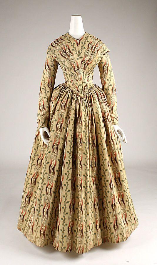 Morning dress, c. 1840-45.