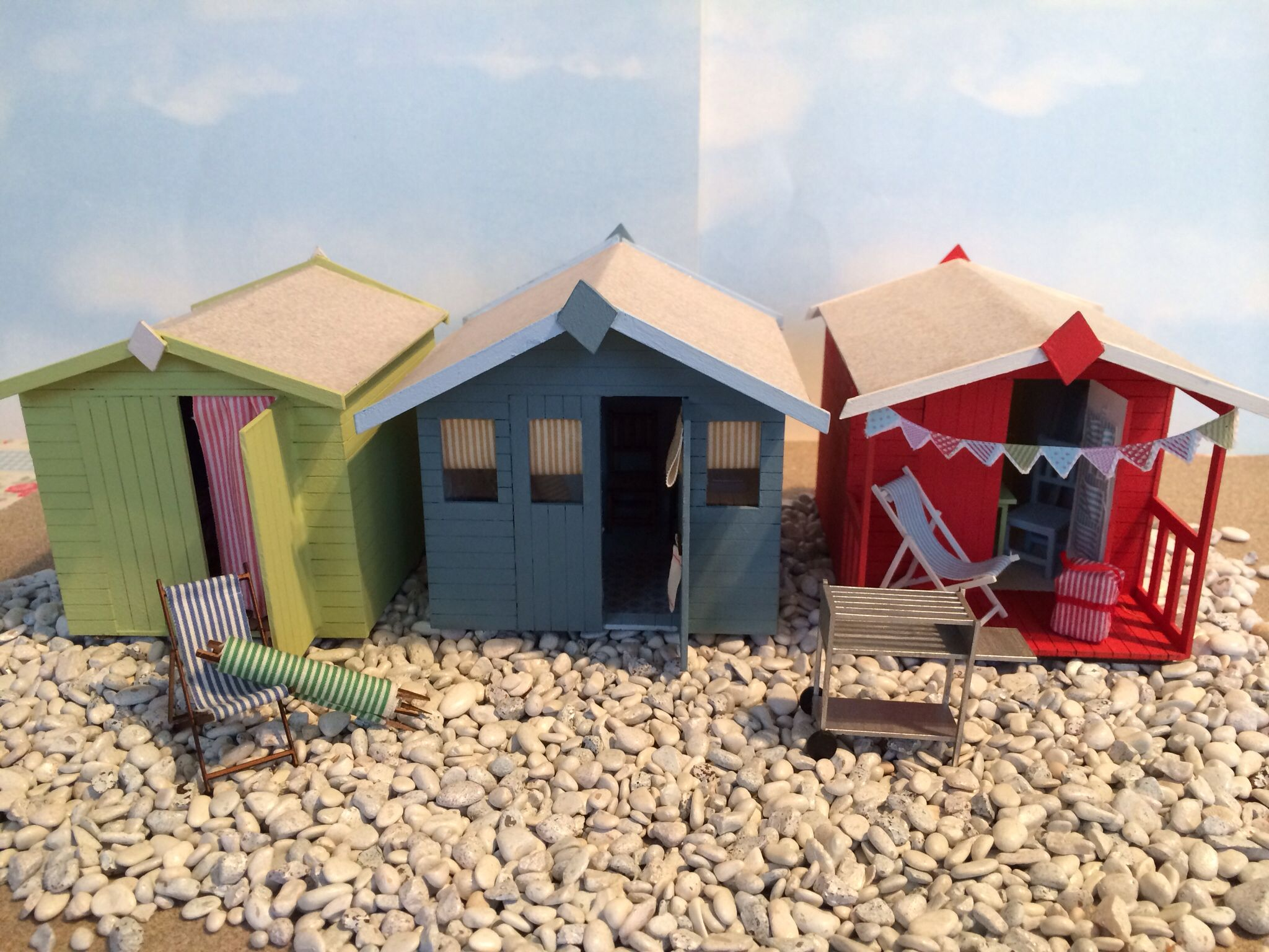 Dolls House Miniature Beach Huts To And Make Www Seasideminiatures Co