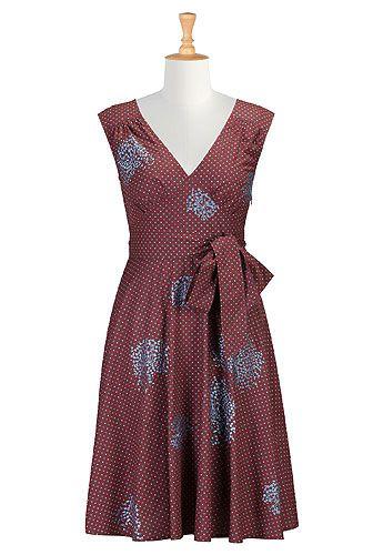 8ca04c4f174 I  3 this Pin-up print embellished dress from eShakti