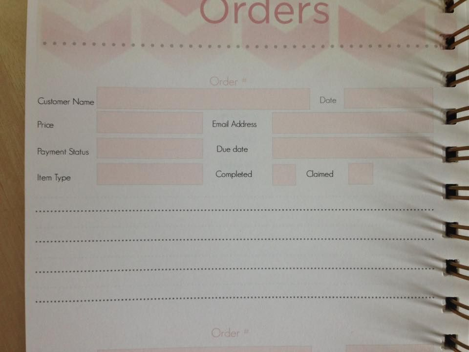 Sample order form for crafts Craft Fairs \ Shows Pinterest - sample order form