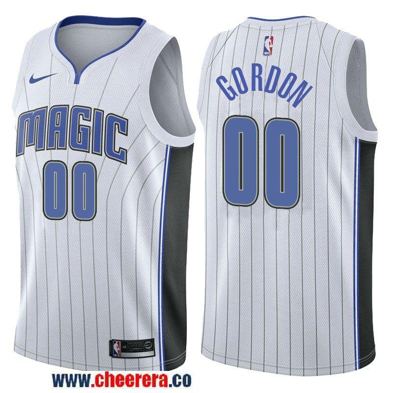 Men s Nike NBA Orlando Magic  00 Aaron Gordon Jersey 2017-18 New Season  White Swingman Jersey b17078956