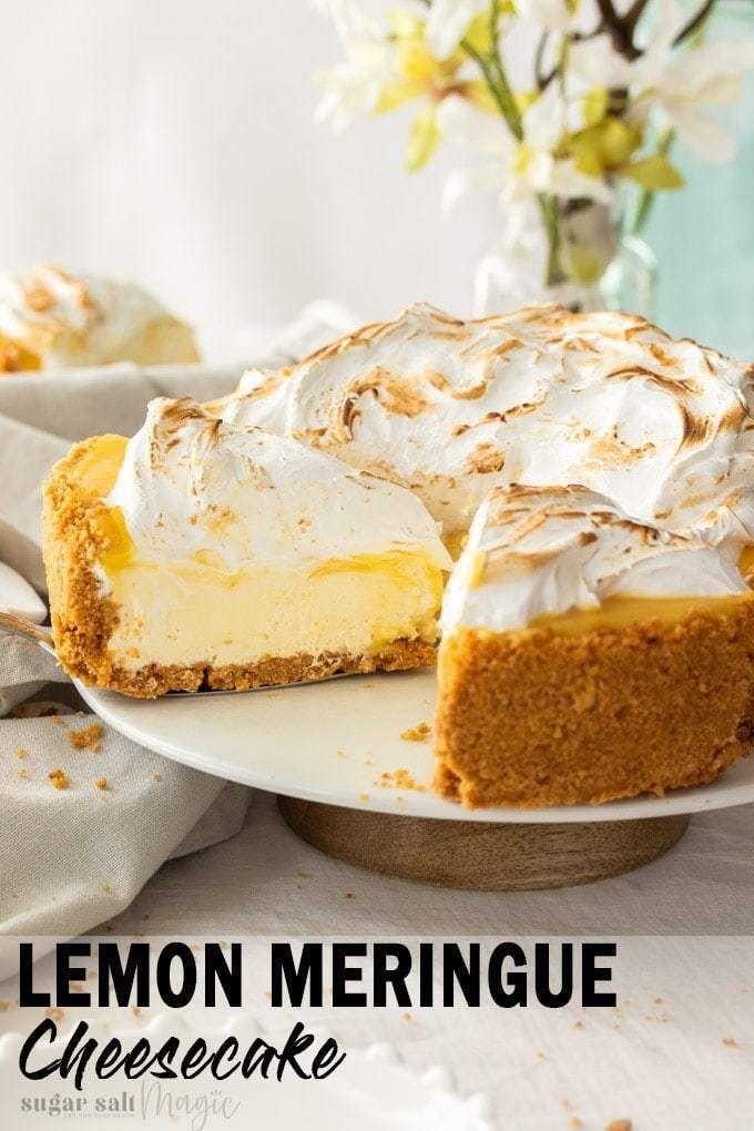 No Bake Lemon Meringue Cheesecake #lemonmeringuecheesecake