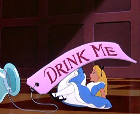 #Alice in #wonderland #drinkme