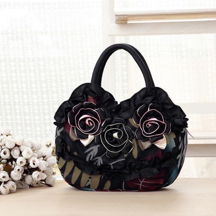 Jooz Casual Canvas New Mom Bag Small Lace Flowers Women Handbags Las S Bags Messenger