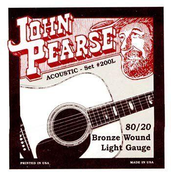 John Pearse P200l Bronze Acoustic Guitar Strings Light By John Pearse 7 95 J Pearse 80 20 Brnz Lt Acoustic Guitar Strings Guitar Strings Guitar