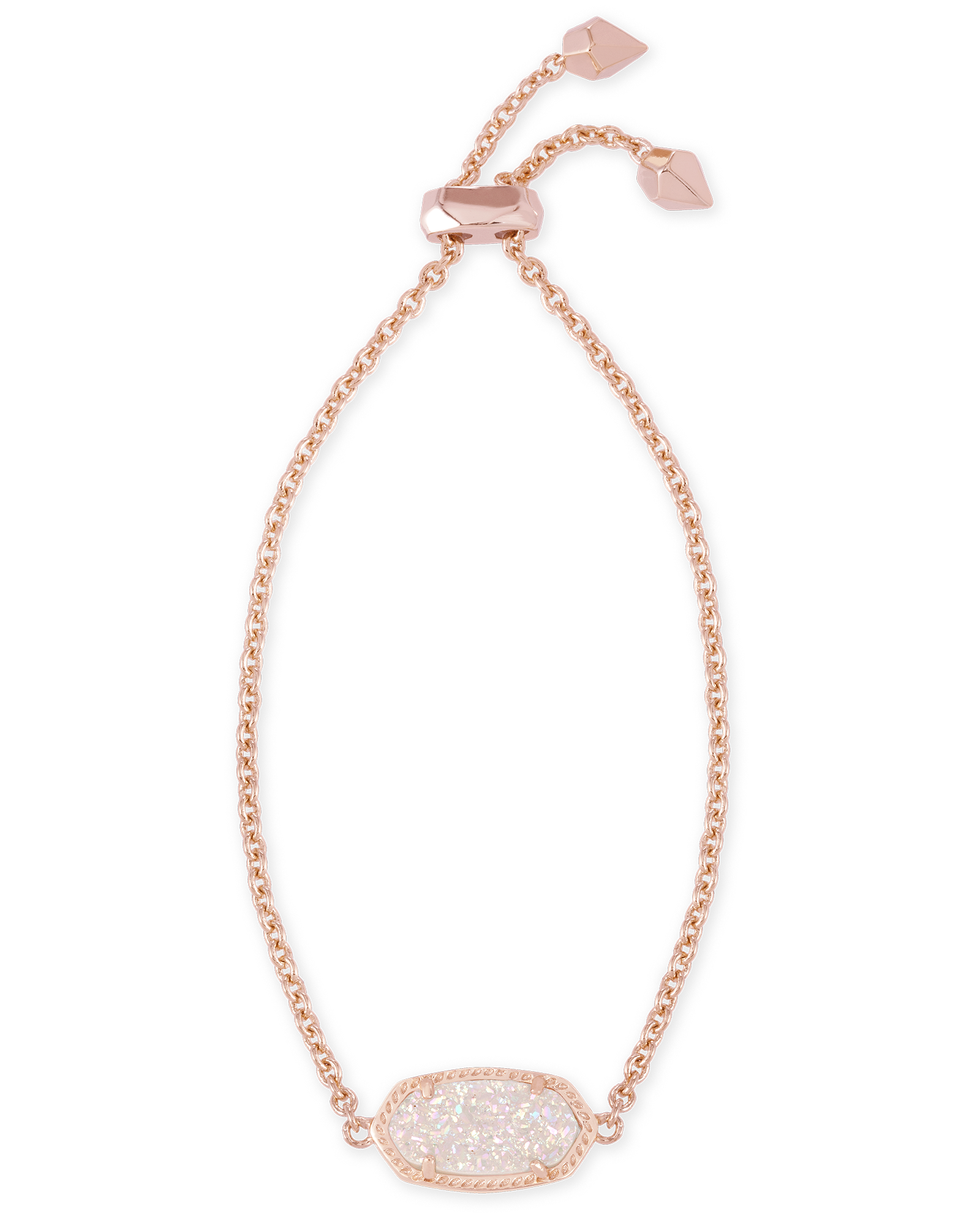 085c9fc4f Elaina Rose Gold Adjustable Bracelet in Iridescent Drusy - Kendra Scott  Jewelry.