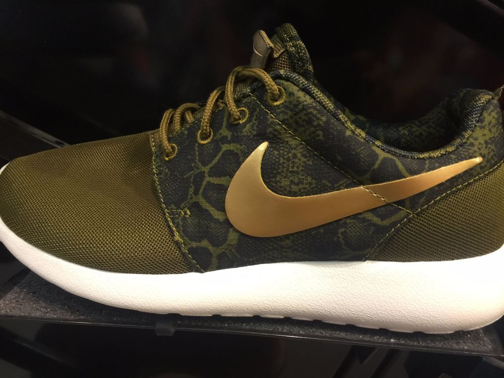Nike Wmns Roshe Courir Camo Olive Vrai