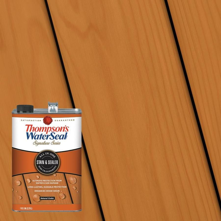 Thompson S Waterseal Signature Series Pre Tinted Natural Cedar Semi Transparent Exterior Stain And Sealer Actu In 2020 Exterior Stain Staining Deck Thompson Waterseal