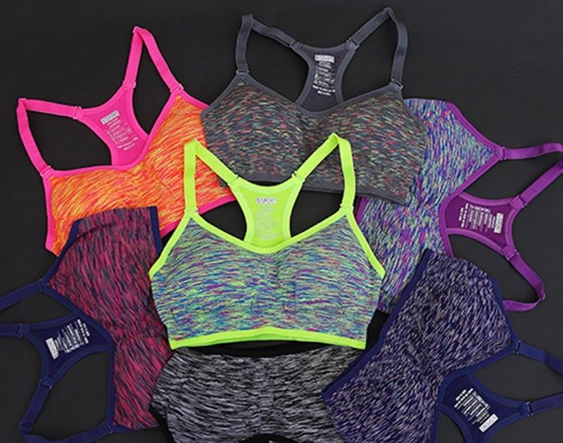 fca6238462d3b Free shipping Women Fitness Yoga Sports Bra For Running Gym Adjustable  Spaghetti Straps Padded Top Seamless Top Athletic Vest S M L
