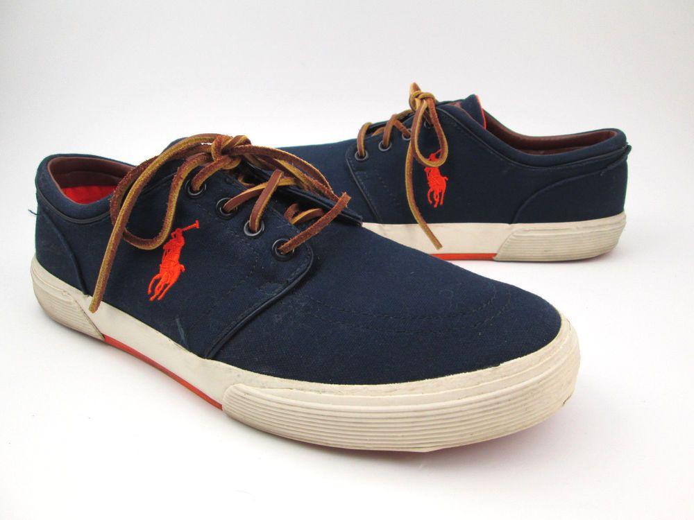 Clothing, Shoes & Accessories Ralph Lauren Polo Felixstow Brown Canvas Casual Tennis Shoes Mens 11d