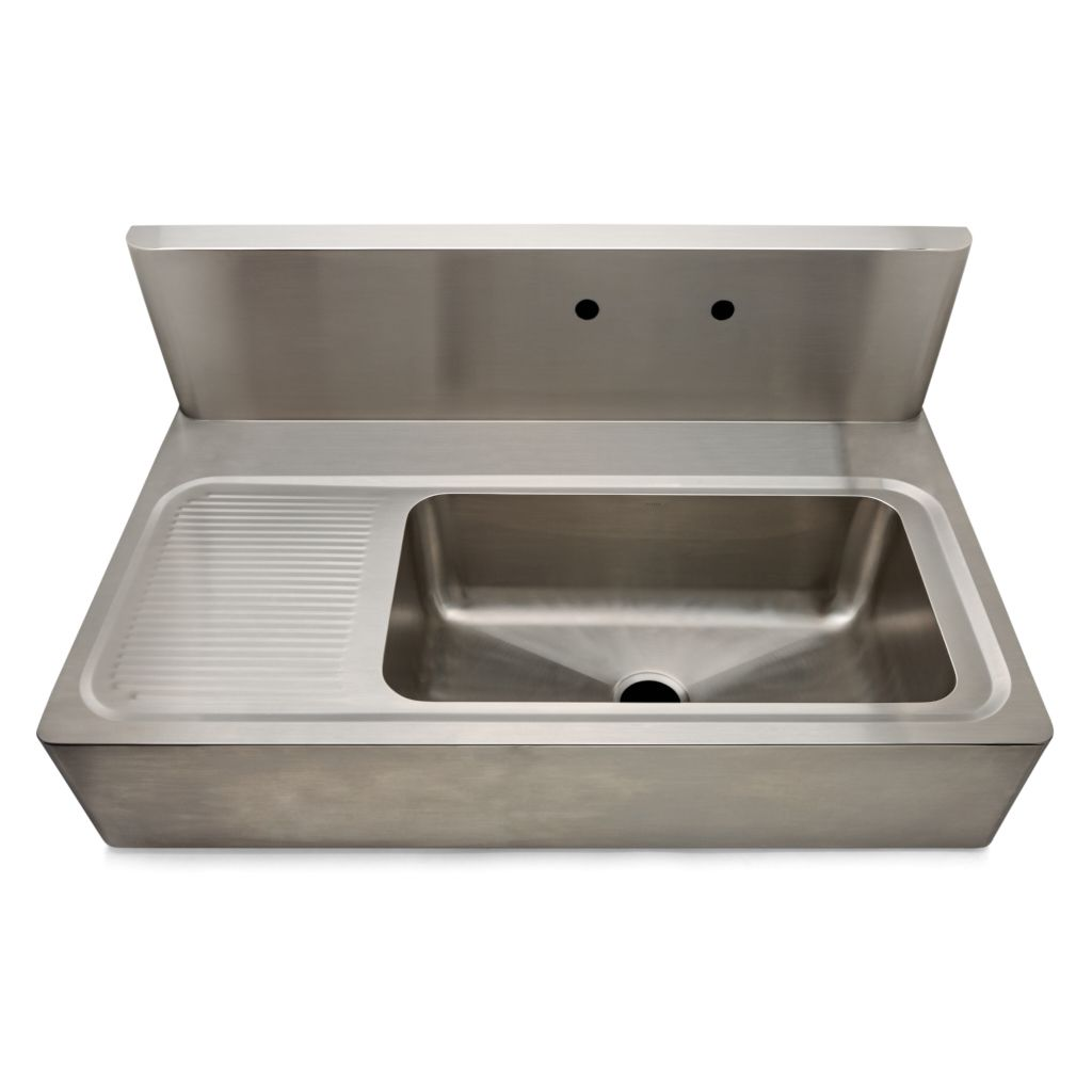 Kerr 48 X 27 1 8 X 22 Stainless Steel Farmhouse Apron Kitchen Sink With Center D Farmhouse Apron Kitchen Sinks Stainless Steel Apron Sink Apron Sink Kitchen