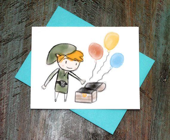 Legend Of Zelda Toon Link Birthday Card On Etsy 238