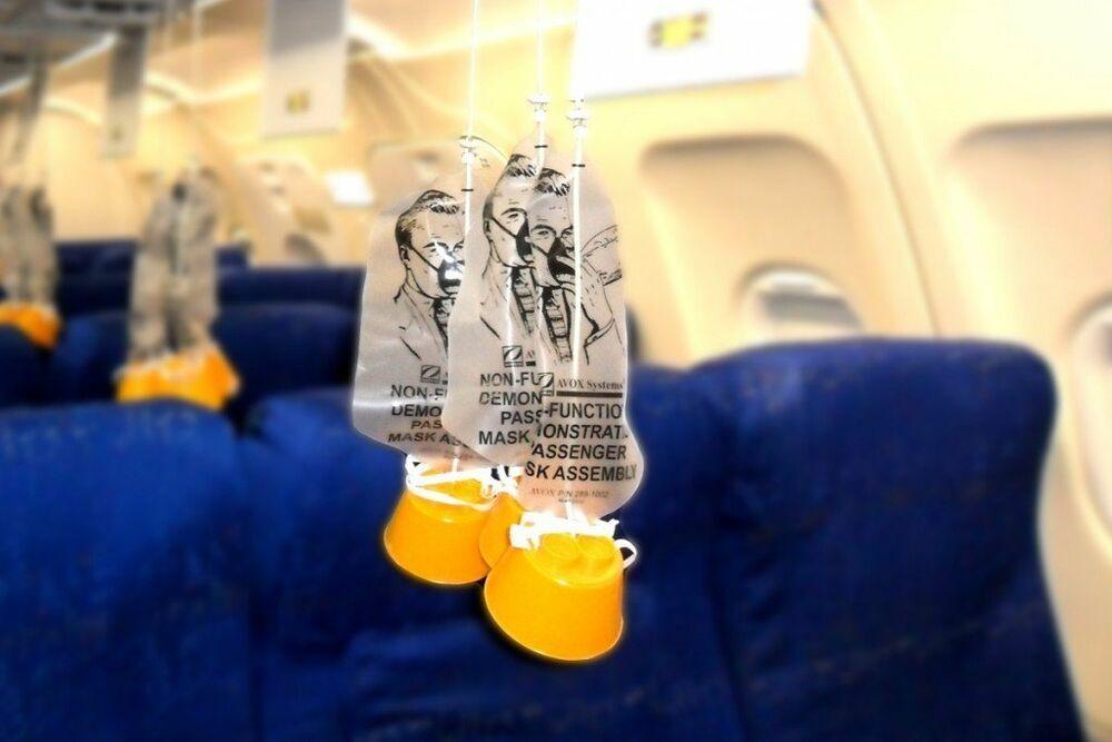 Strange Aviation Science Oddity Airline Passenger Emergency Oxygen Mask Wow Oxygen Oxygen Mask Mask