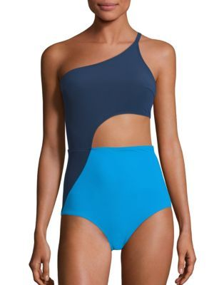 6da5590910 FLAGPOLE - Ali One Shoulder One-Piece Swimsuit   it's all in the ...