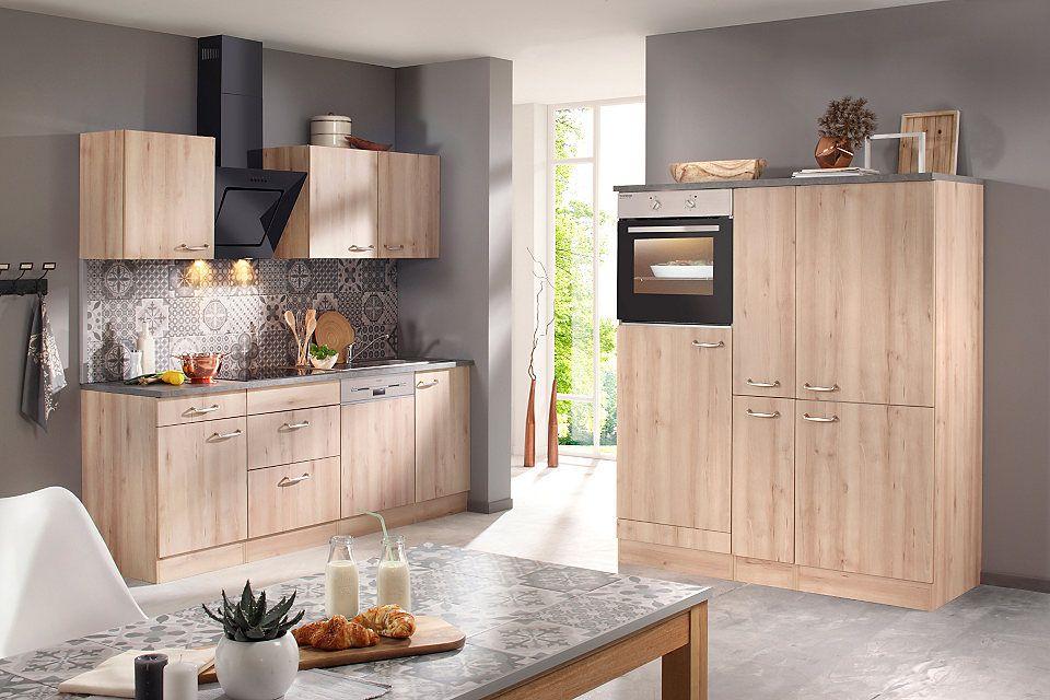 OPTIFIT Küchenzeile mit E-Geräten »Calgary 360 cm«, Mit - küchenblock 260 cm