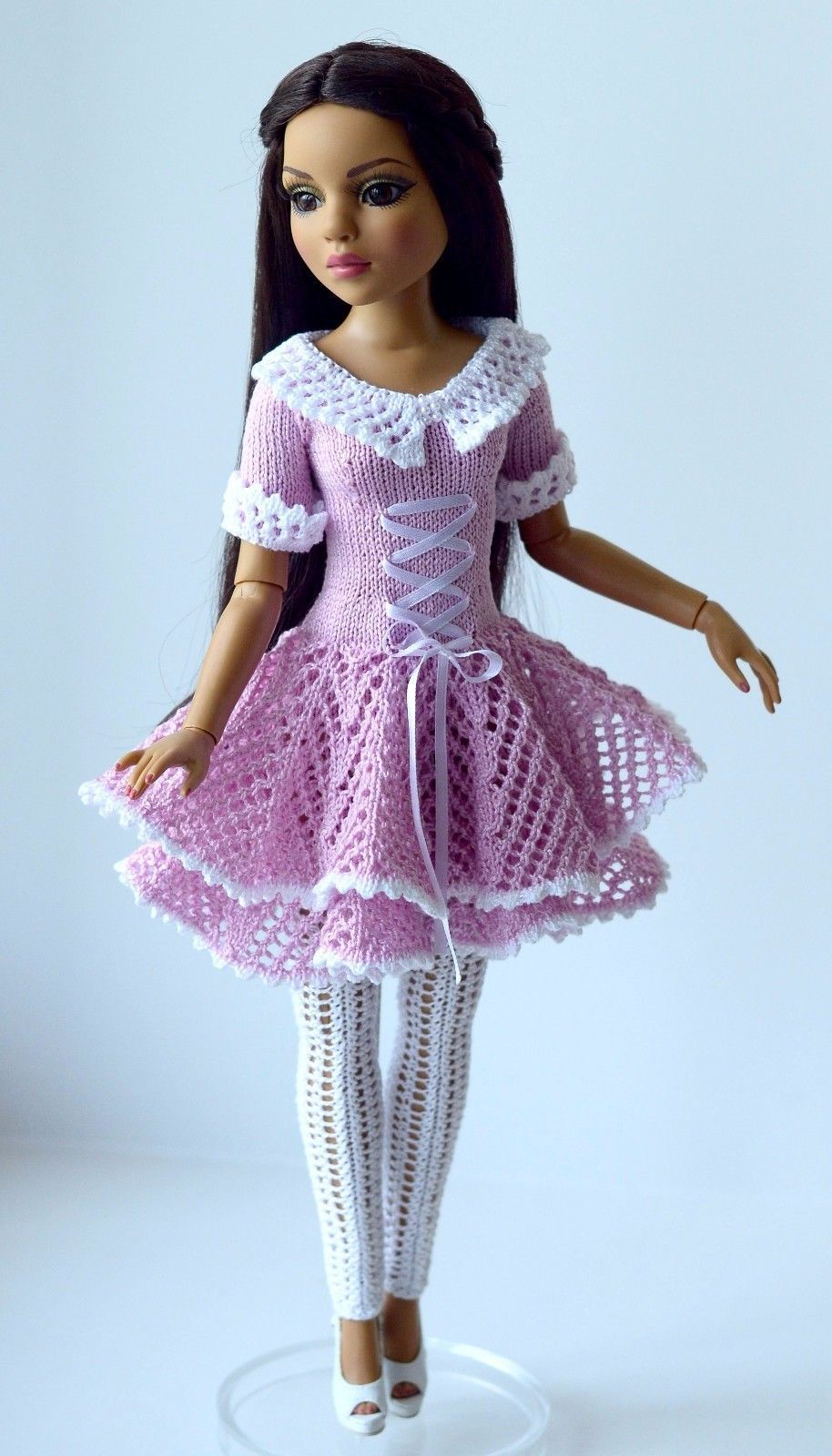 bfab1a19347f9 Details about Handmade knit outfit for Tonner Doll Ellowyne Wilde ...