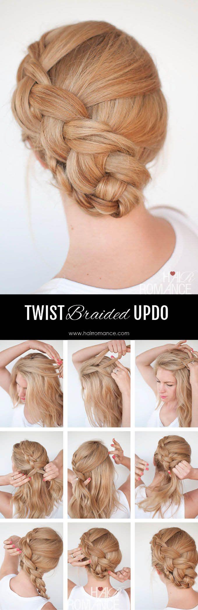 New Braid Hairstyle Tutorial The Twist Braid Updo Geflochtene Frisuren Frisuren Und Zopffrisuren