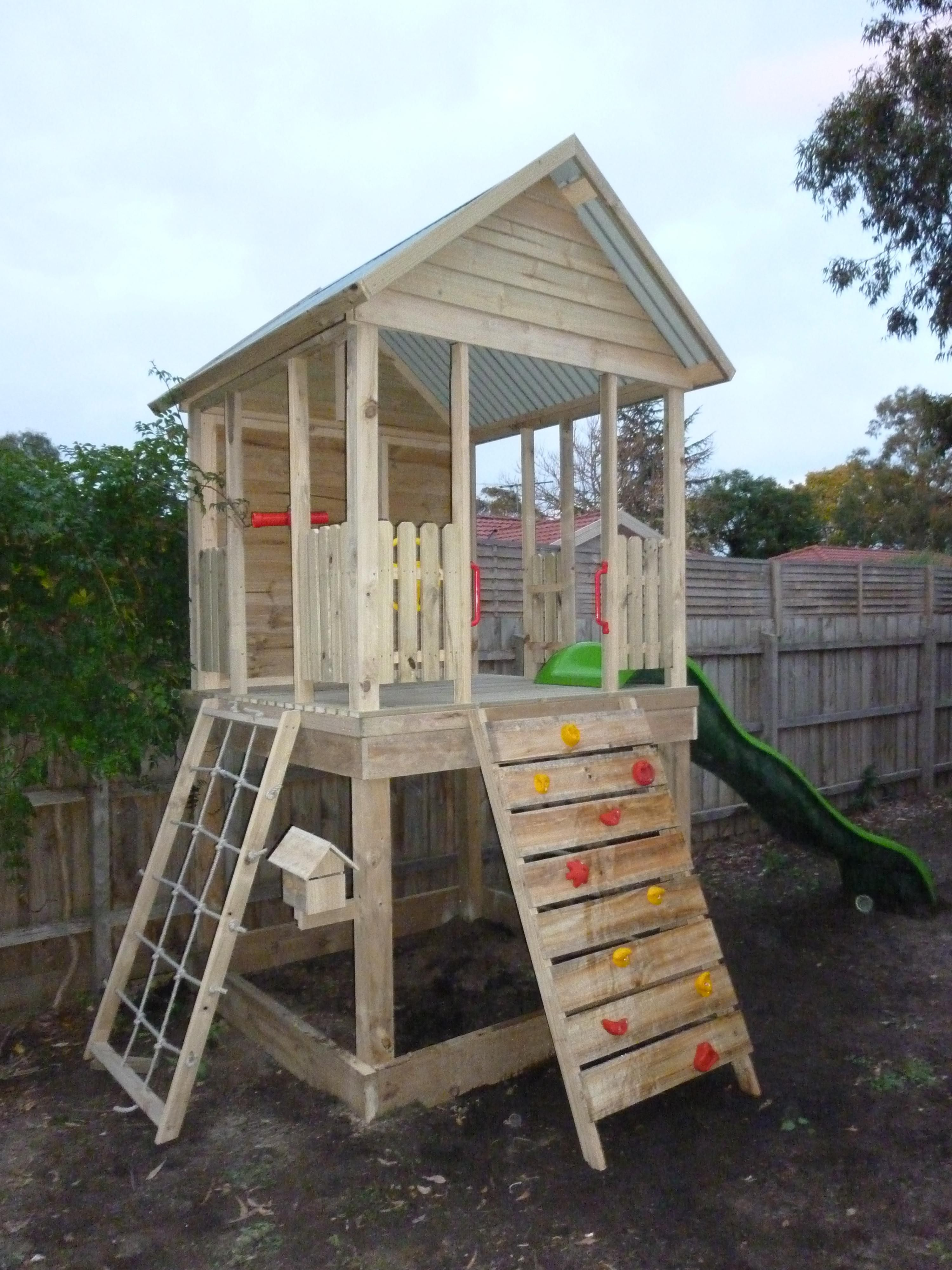 The Grand Central Fort   Backyard play, Backyard for kids ...