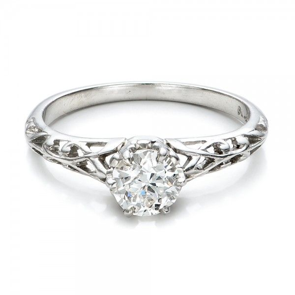 Estate Solitaire Diamond Edwardian Engagement Ring Engagement