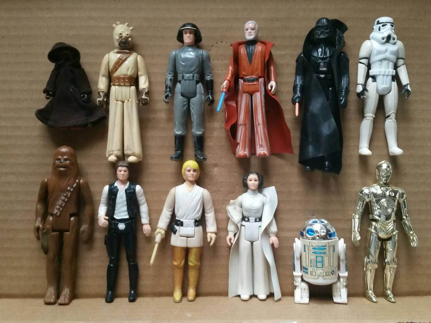 Kenner Star Wars Action Figures The First 12 Beater Budget Figures By St Vintage Star Wars Action Figures Kenner Star Wars Action Figures Star Wars Collection