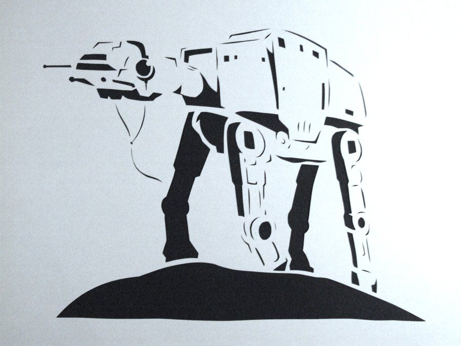 Star Wars AT-AT Stencil By ~daylatefriend123 On DeviantART