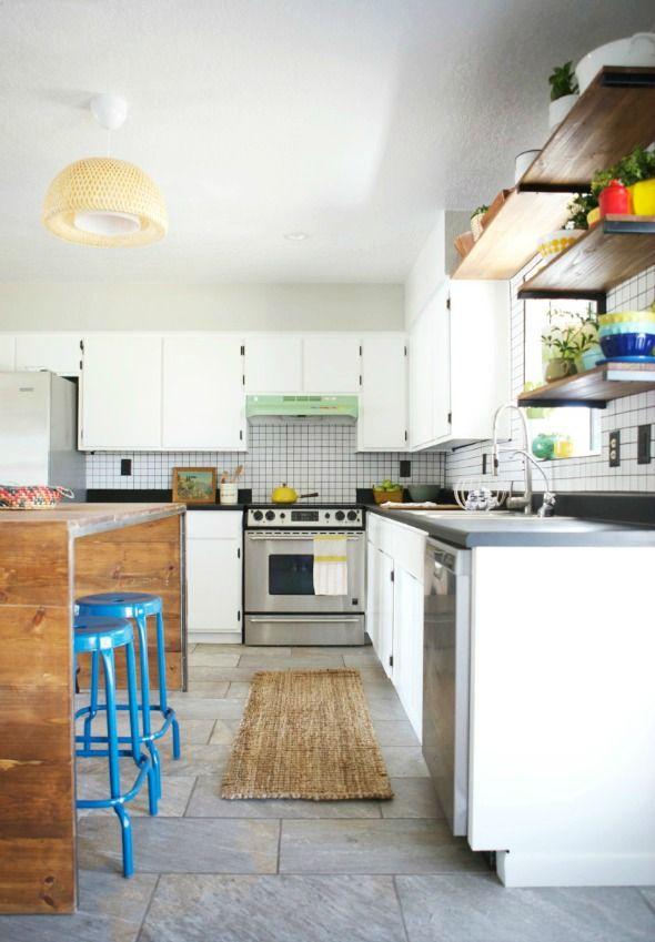 Excelente Cocinas Verdes Y Blancas Cresta - Ideas de Decoración de ...