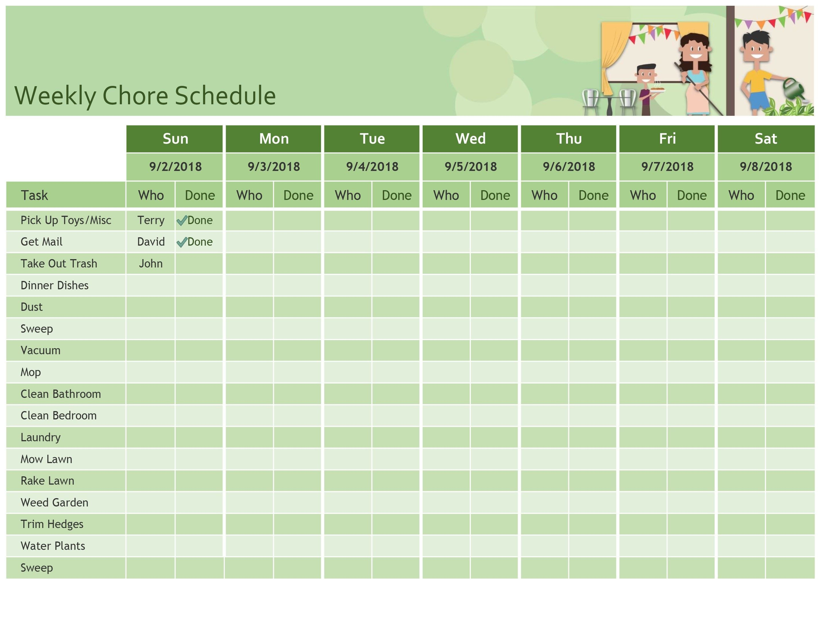 Unique Snack Sign Up Sheet Printable Weekly Schedule Template