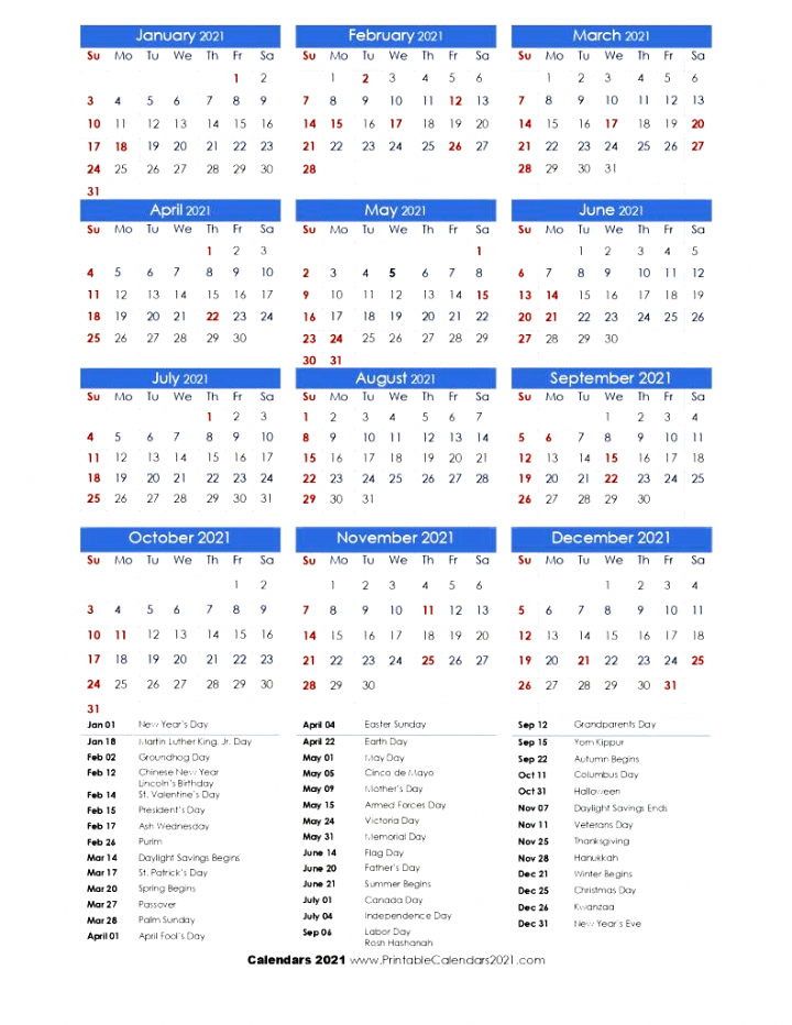 2021 Calendar One Page With Holidays Portrait Calendars In 2020 2021 Calendar Calendar Printable Calendar