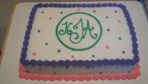 Monogrammed Birthday Cake