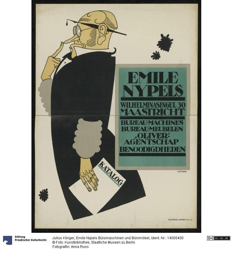 Emile Nypels Büromaschinen und Büromöbel Plakat Julius Klinger (22.5 ...