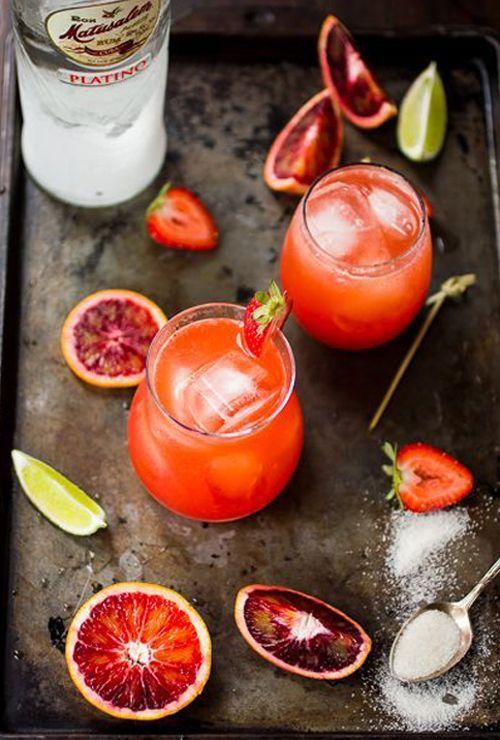 Strawberry Blood Orange Rum Punch  Foodie Friday: 12 Summer Cocktails | StyleCarrot