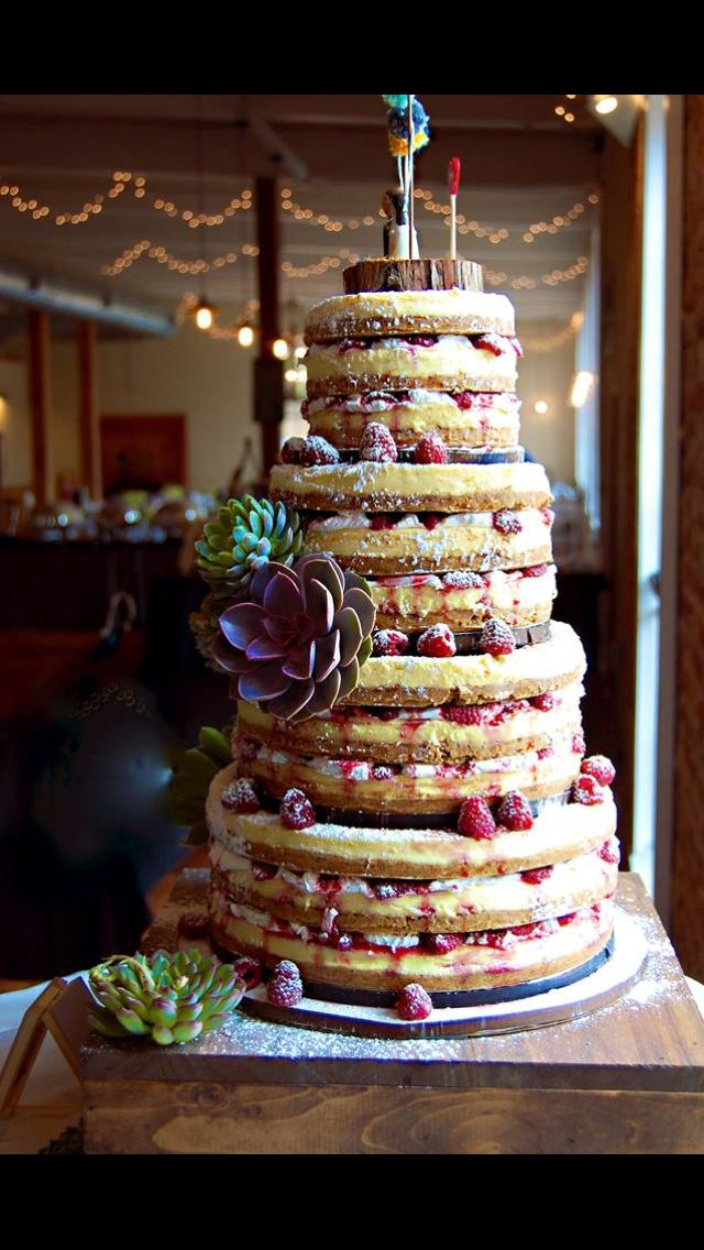 Cheesecakes Stacked On Top Of Each Other 3 Wedding Cheesecake