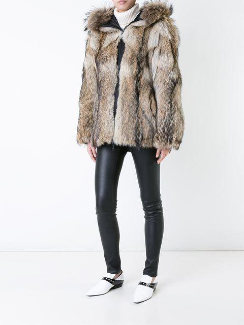 Kru reversible coyote fur lined jacket