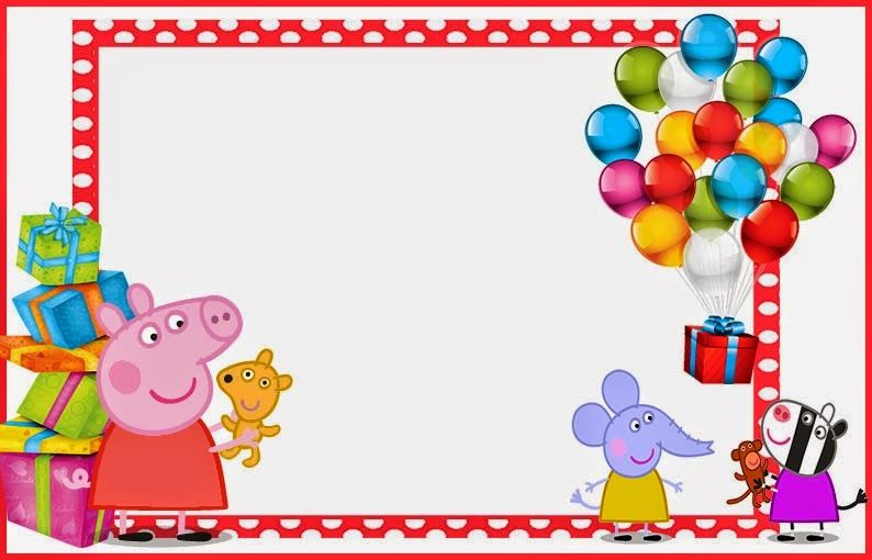 Oh My Fiesta In English Peppa Pig Free Printable Invitations Labels Or Cards Peppa Pig Invitations Pig Invitation Pig Birthday Invitations