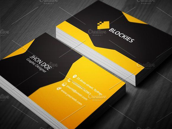 Creative Business Card Template Card Templates Business Cards And