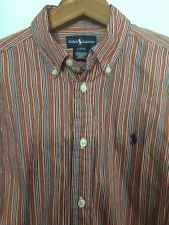 Ralph Lauren Boys Shirt - Size L (14-16) - Button Front Cotton stripe EUC