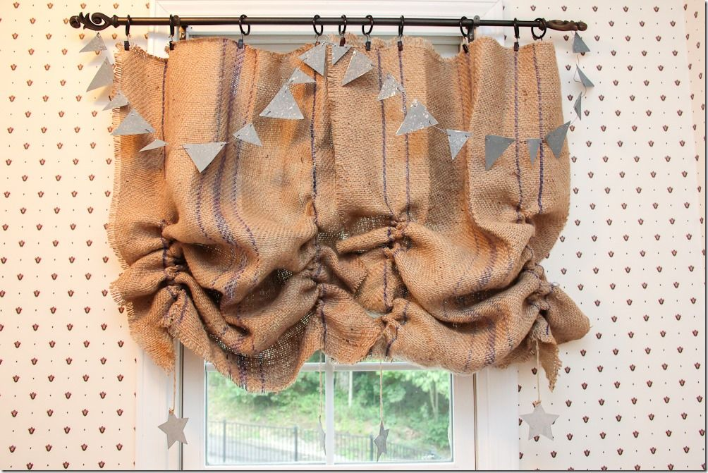From Grain Sack To Cute Curtain In Just A Few Minutes Come Find