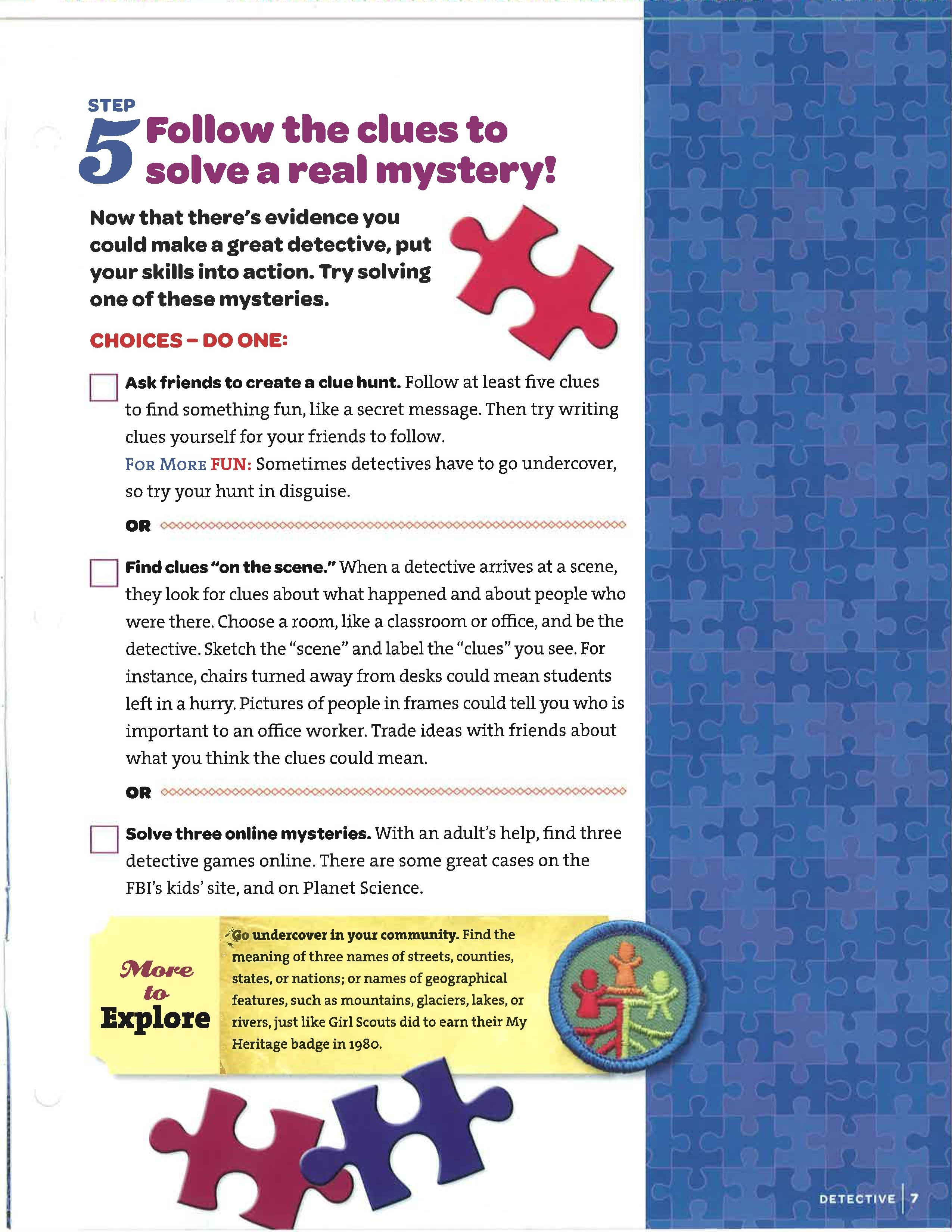 Step 5 detective badge brownies pinterest detective step 5 detective badge solutioingenieria Choice Image