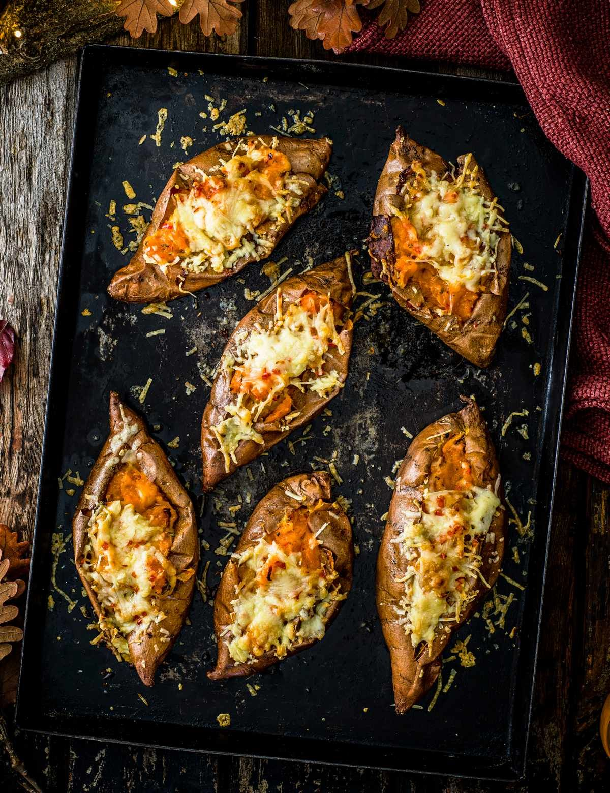 Sweet potato melts with rosemary, garlic and chilli #bonfirenightfood