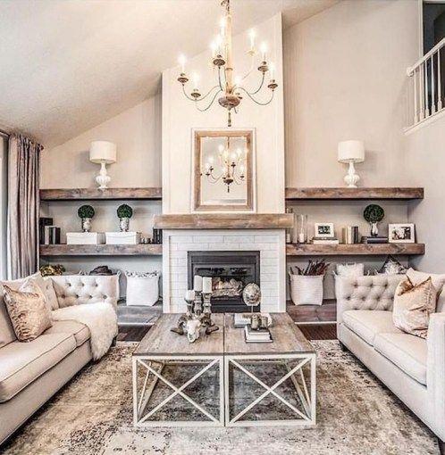 44 Simple Rustic Farmhouse Living Room Decor Ideas