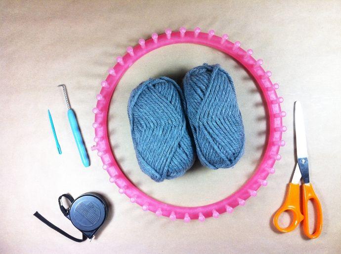 tutorial como tejer gorro de lana slouchy beanie con telar loom ...