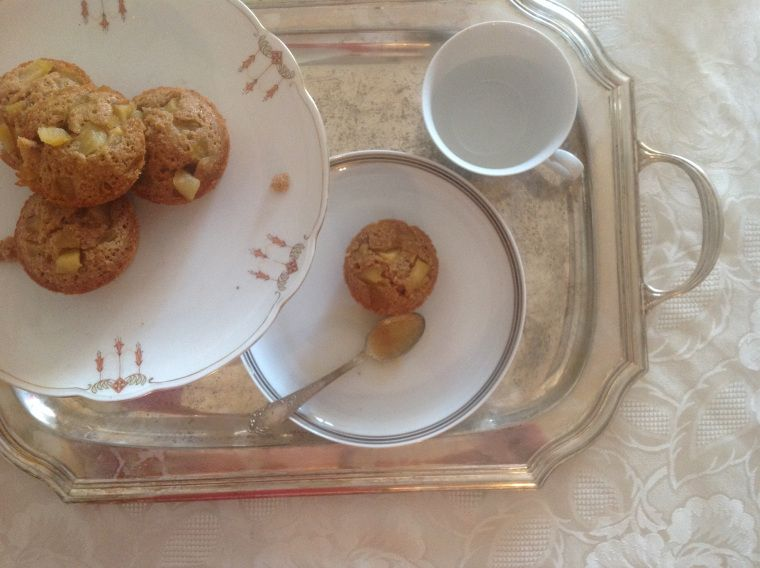 Hazelnuts, candied apples and maple syrup financiers