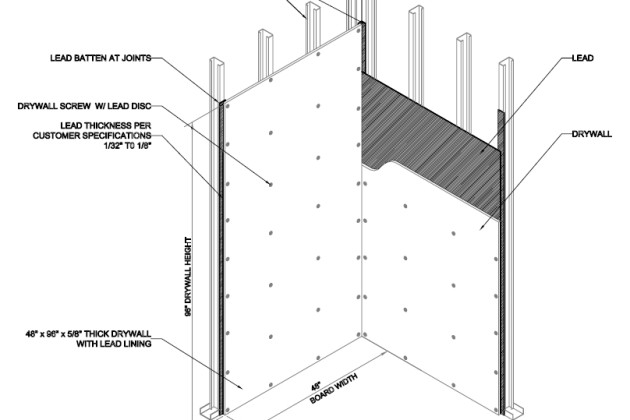 Lead Lined Drywall Plywood Medical Construction Nelco Plywood