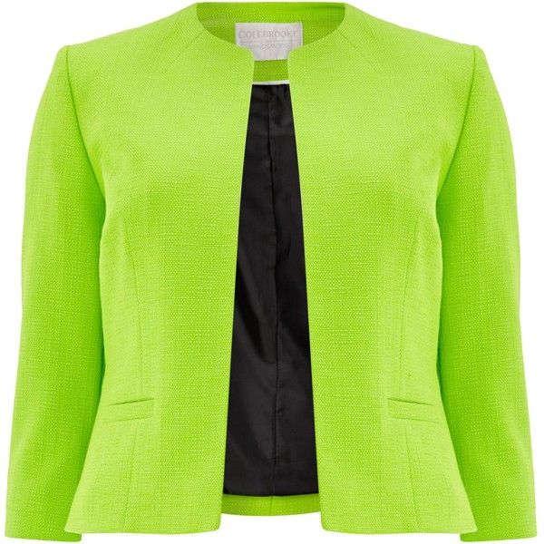 Windsmoor Edge To Edge Pocket Jacket ($110) ❤ liked on Polyvore featuring outerwear, jackets, blazers, jackets & blazers, clearance, green, green blazer jacket, pocket jacket, collarless jacket and windsmoor