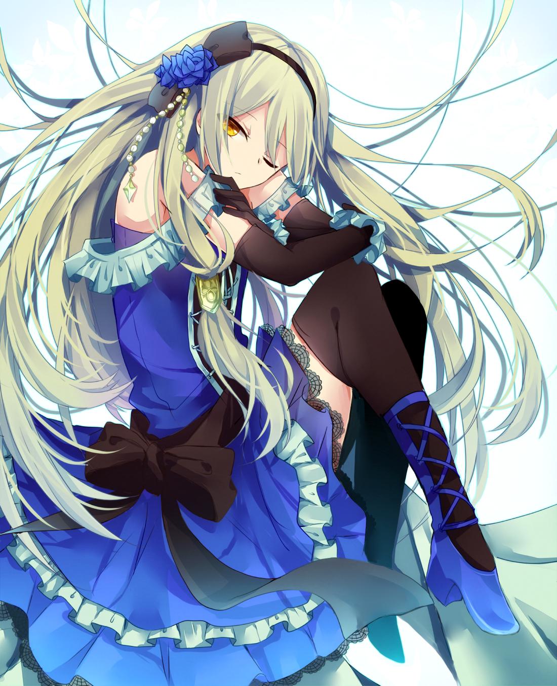 Dress Hiiragisouren Thighhighs Anime Anime Characters Kawaii Anime