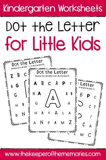 Dot the Letter Alphabet Kindergarten Worksheets is part of Kids learning activities, Alphabet kindergarten, Toddler learning activities, Kindergarten worksheets, Preschool activities, Toddler math - Review the alphabet and practice letter recognition with your little kids using these printable Dot the Letter Alphabet Kindergarten Worksheets  These dot worksheets are a wonderful confidence builder for your preschoolers or kindergartners and of