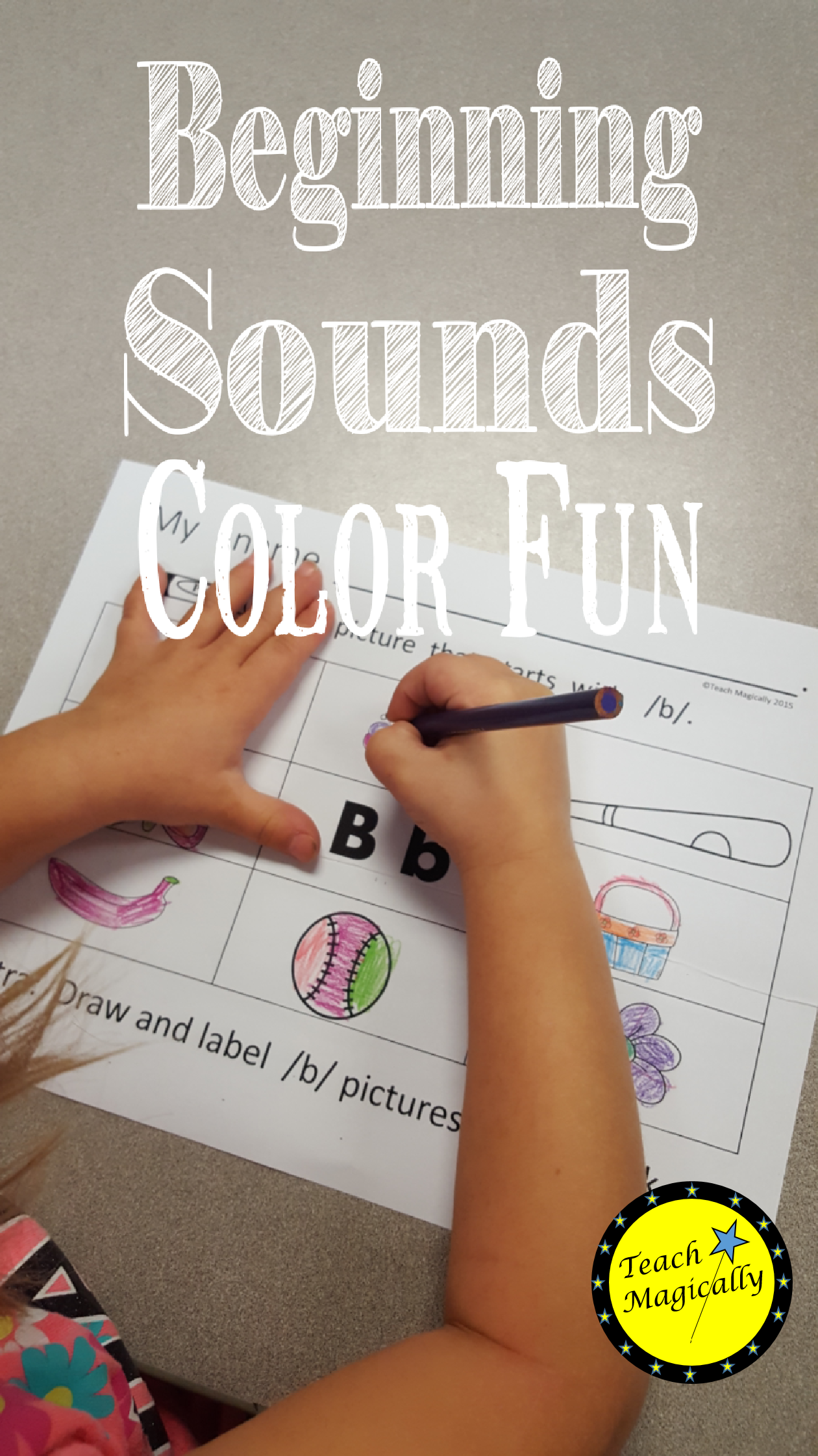 Color Words That Start With Initial Sound Of Target Letter