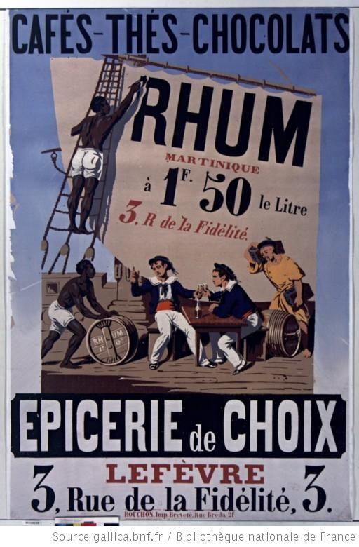 Cafés - Thés - Chocolats... Epicerie de choix Lefèvre, 3 rue de la Fidélité, 3 : [affiche] / [non identifié] - 1853 - France